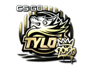 Наклейка | TYLOO (золотая) | РМР 2020