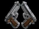 Dual Berettas | Черная лимба (Закаленное в боях)